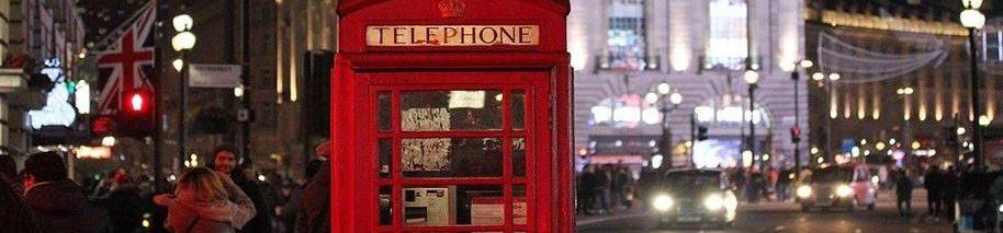 Engelse telefoon cel